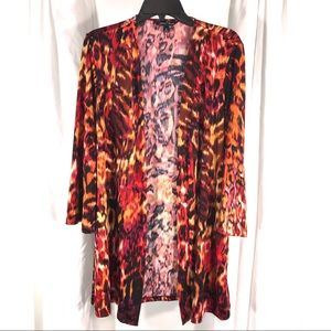 Slinky Brand Animal Print Duster Jacket, size XL